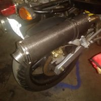 Duel Carbon fiber exhaust