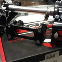 TAG Metals Racing black triple tree and handlebar clamp for KX125 KX250 RM250