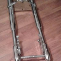 "41"" Custom Chrome Inverted Raked Motorcycle Front End ""Brand New"" never used"