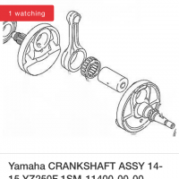 YZ 250F Yamaha crank shaft 14-16 OEM new