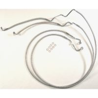 Harley Touring- Magnum polished stainless front brake lines for 2014+ touring models