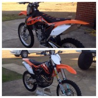 2014 KTM 450sx-f like brand new less than 10 hrs