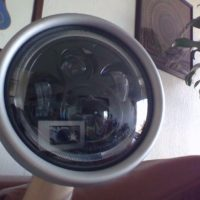 "Purpose Built Moto ""Flashpoint"" Halo Classic Raw LED Headlight 7″"
