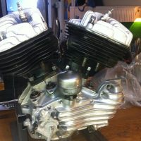 "Big Twin Flathead engine, 1948 model U, 74"" / 1200cc"