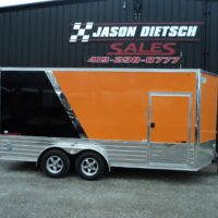 2016 United XLMTV 7'x16' V-Nose Extra Height Motorcycle Trailer